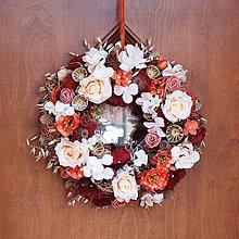 Dekorácie - Veniec v jesenných farbách s ovsom a makovičkami - 7158939_