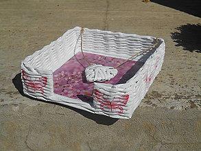 Košíky - Servítkovník-do ružova - 7158454_