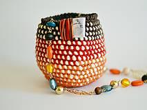 Košíky - Bavlnený košík: oranžový - 7157349_