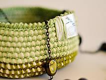Košíky - Bavlnený košík: zelený - 7157394_