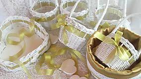 Košíky - Svadobná súprava - Zlatá - 7157667_