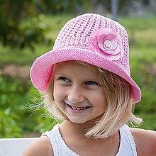 Detské čiapky - Ružový klobúčik - 7159663_