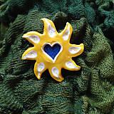 Odznaky/Brošne - Brošňa slnko žltá - 7158816_
