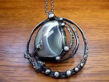 - cínovaný náhrdelník s achátom - 7158751_