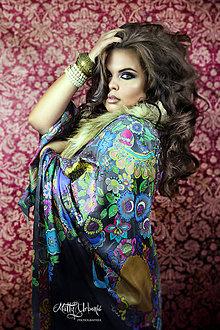 Textil - Hodvábny maľovaný pás- Tanec s rusalkami - 7158982_