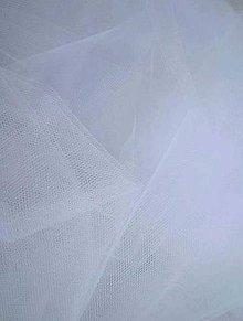 Textil - Tyl jemný - biely (šírka 275 cm) - 7158553_