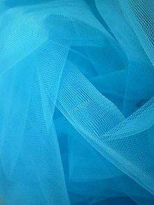 Textil - Tyl jemný - tyrkysový (šírka 275 cm) - 7158708_
