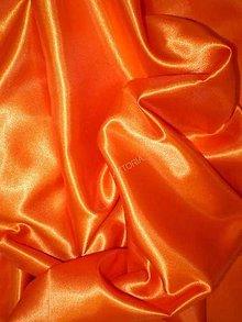 Textil - Satén pevný - oranžový SK220 - 7159693_