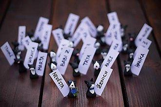 Darčeky pre svadobčanov - Darčeky pre svadobných hostí, menovky - bulteriér - 7159610_