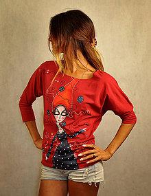 Tričká - Tmavočervené tričko - Alice - 7157671_