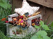 Dekorácie - Jesenný aranžmánik - 7158809_