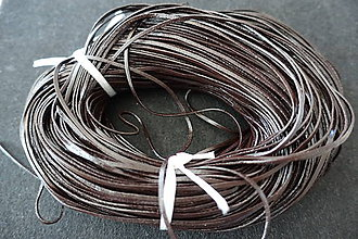 Suroviny - Koža kávová 2x1mm plochá - 7158215_