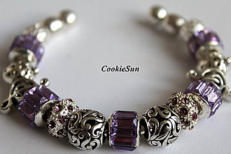 Náramky - Náramok Pandora Violet - 7159159_