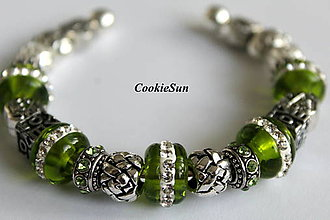 Náramky - Náramok Pandora Light Green - 7159167_