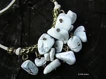 Náhrdelníky - Mramor v bronze - 7156987_