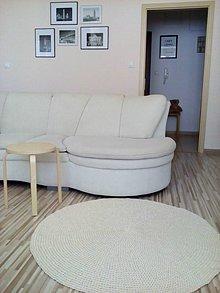 Úžitkový textil - 100 % natural okrúhly koberec - 7159038_