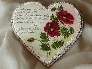 Dekorácie - srdce s vlčim makom - 7161789_