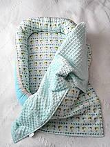Textil - Vtáčatkový set tyrkysový - 7160579_