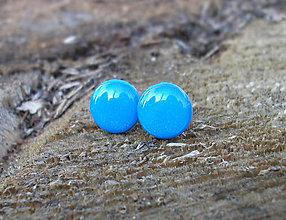 Náušnice - Krúžky 12 mm (modré) - 7160534_