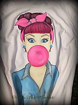 Tričká - Bubble gum pin-up girl 3 - 7162470_