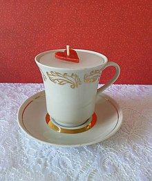 Svietidlá a sviečky - teacup candle / sviečka v šálke - 7160785_