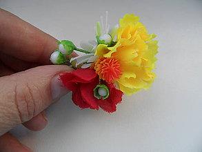 Iné šperky - sponka s kvetinkami - 7161156_