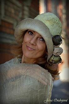 Čiapky - Plstený klobúk hodvábnovlnený - 7161718_