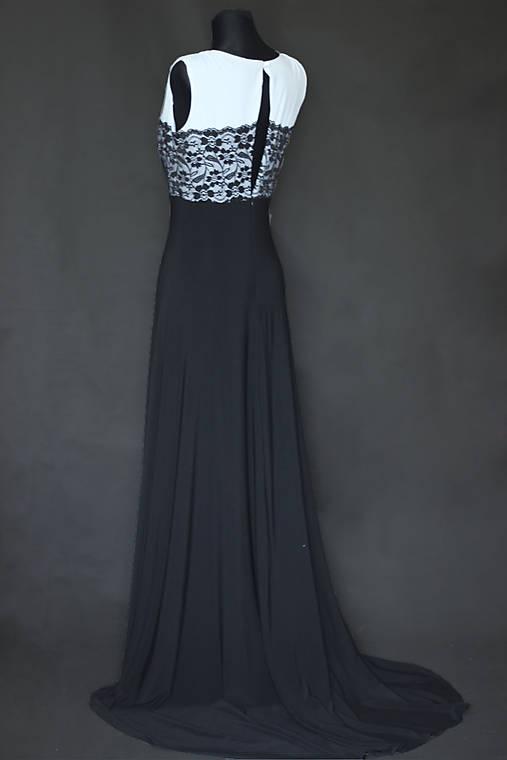 Elastické spoločenské šaty s vlečkou   Dyona - SAShE.sk - Handmade Šaty ce685222bef