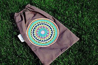 Batohy - Backpack s háčkovanou mandalou - 7163971_