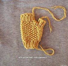 Návody a literatúra - Návod - horčicové rukavice - 7164359_