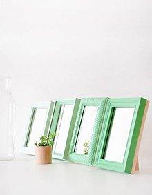 Zrkadlá - Kozmetická zrkadlá v odtieňoch zelenej - 7165814_