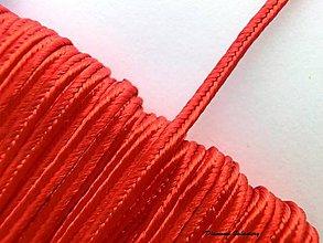 Galantéria - Sutaška 3 mm - červená - 7165449_