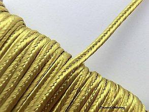 Galantéria - Sutaška 3 mm - zlatá - 7165587_