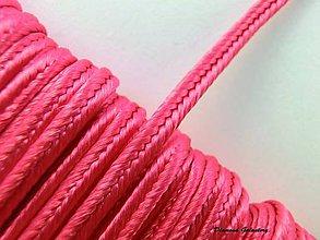 Galantéria - Sutaška 3 mm - ružová tmavšia - 7165597_