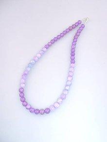 Náhrdelníky - náhrdelník levandula -jadeitový - 7163462_