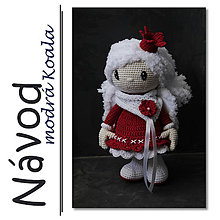 Návody a literatúra - Háčkovaná vánoční Andělka Sněženka - návod - 7163936_