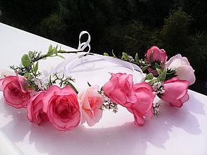 """Ozdoby do vlasov - Kvetinový venček do vlasov """"...láska sladká..."""" - 7164744_"""
