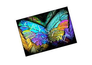 Textil - Panel dizajnový Crystal motýľ - 7165550_