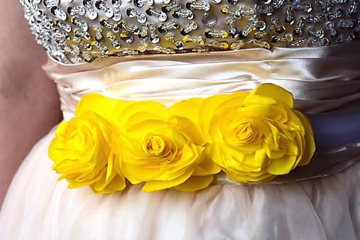 f083b0d61 Opasok žlté ruže / tanilie - SAShE.sk - Handmade Opasky