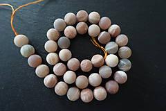 Minerály - Slnečný kameň svetlý matný 10mm - 7166368_
