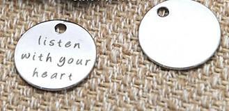 - Prívesok LISTEN TO YOUR HEART - 7164290_