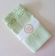 Úžitkový textil - Utierka s háčkovaným okrajom, mentolová zelená - 7165636_