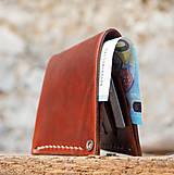 Peňaženky - Peňaženka dolárovka - karamelová - 7166016_