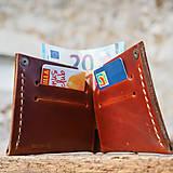 Peňaženky - Peňaženka dolárovka - karamelová - 7166020_
