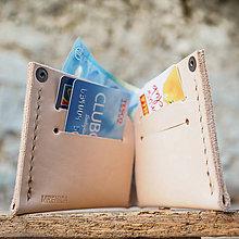 Peňaženky - Peňaženka dolárovka - prírodná - 7166032_