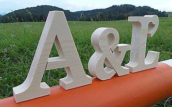 Tabuľky - Písmená drevené - samostatne stojace - 7163873_