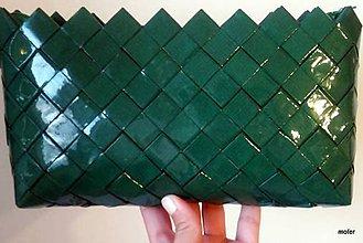 Kabelky - smaragdovozelená kabelka - 7165793_