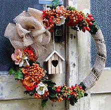 Dekorácie - Veľký jesenný veniec - 7167215_