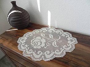 Úžitkový textil - Háčkovaný obrúsok - šípková ruženka:) - 7168693_