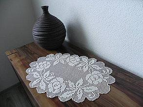 Úžitkový textil - Háčkovaný obrúsok - šepot jesenného lístia:-) - 7168717_